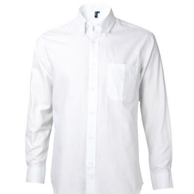 camisa oxford manga larga con bolsillo